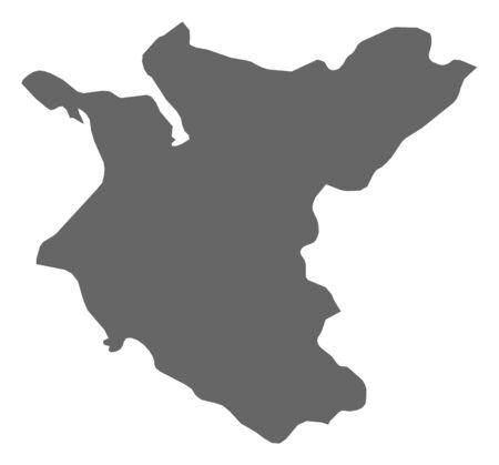 越は、ネパールの州の地図。 ロ...