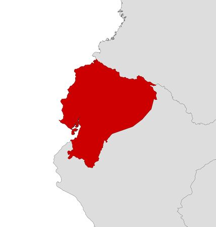 Map of ecuador with the provinces sucumbios is highlighted royalty map of ecuador and nearby countries ecuador is highlighted in red vector gumiabroncs Image collections