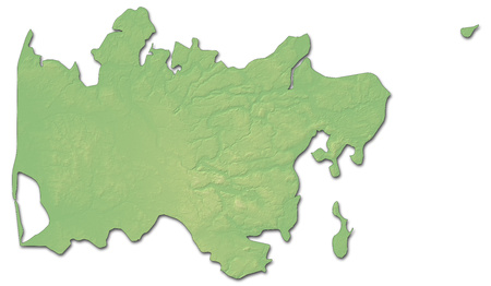Relief Map Of Apulia A Province Of Italy With Shaded Relief Stock