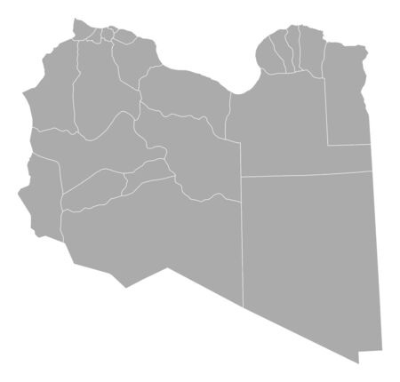 provinces: Map of Libya with the provinces.