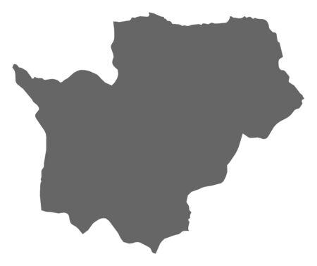 ngola: Map of Cuanza Sul, a province of Angola.