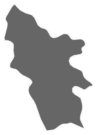 Map of Syunik, a province of Armenia. Illustration