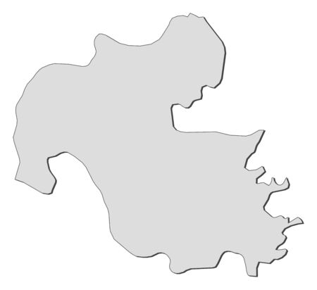 Map of Oita, a province of Japan.