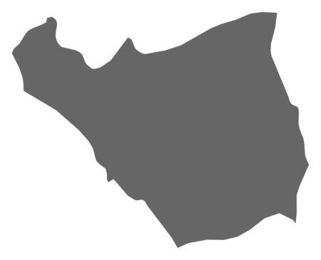 southwestern asia: Map of Ararat, a province of Armenia.