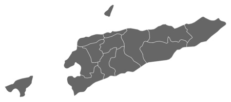territory: Map of East Timor as a dark area. Illustration