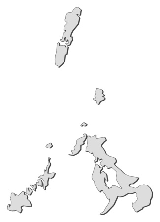 nagasaki: Map of Nagasaki, a province of Japan.