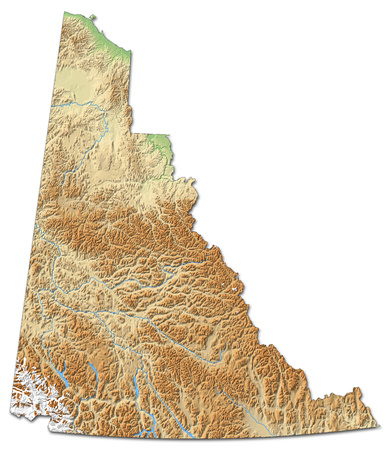Relief Map Of Alberta A Province Of Canada With Shaded Relief - Relief map of canada