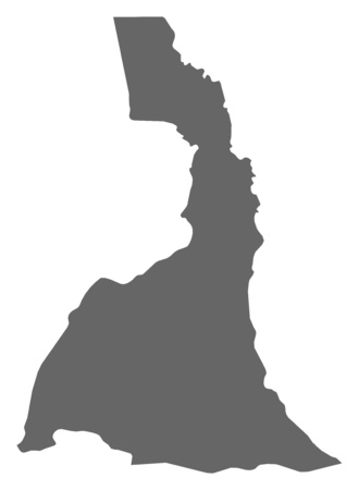 far: Map of Far North, a province of Cameroon. Illustration