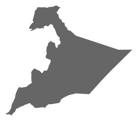 somali: Map of Somali, a province of Ethiopia.