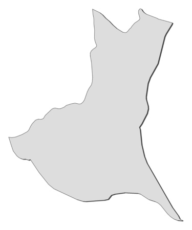 Map of Ibaraki, a province of Japan. Illustration