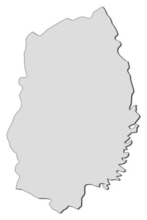 Map of Iwate, a province of Japan.