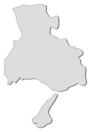 prefecture: Map of Hyogo, a province of Japan. Illustration