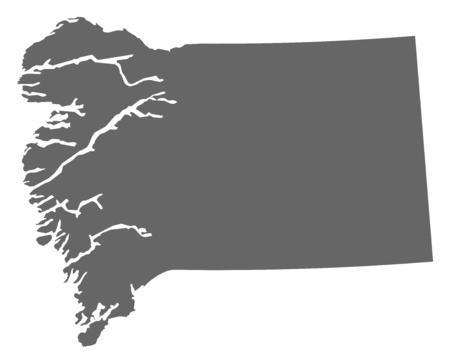 municipalities: Map of Qeqqata, a province of Greenland.
