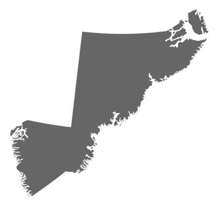 municipalities: Map of Sermersooq, a province of Greenland. Illustration