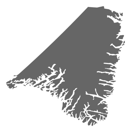 municipalities: Map of Kujalleq, a province of Greenland. Illustration