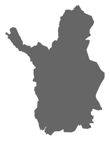 lapland: Map of Lapland, a province of Finland.