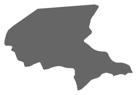 southwestern asia: Map of Shabwah, a province of Yemen.
