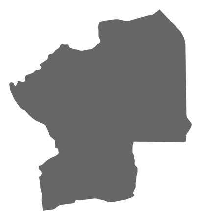 republique: Map of Centrale, a province of Togo.