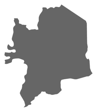 republique: Map of Kara, a province of Togo.