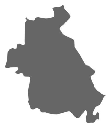 southwestern asia: Map of Idlib, a province of Syria. Illustration