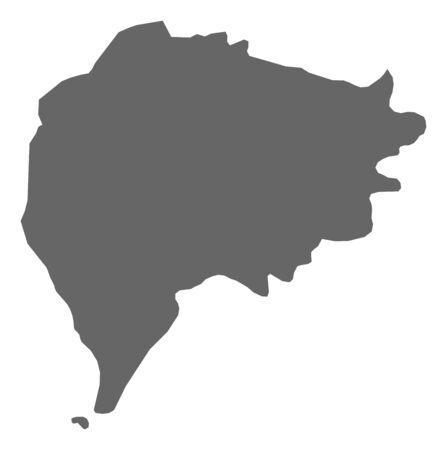 southwestern asia: Map of Taizz, a province of Yemen.