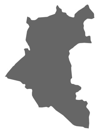 southwestern asia: Map of Daraa, a province of Syria. Illustration