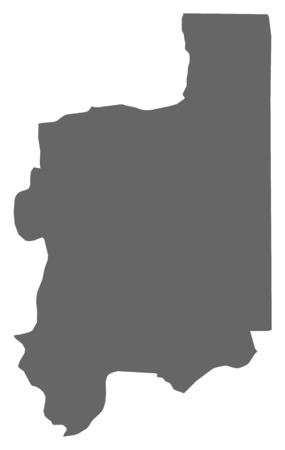 republique: Map of Plateaux, a province of Togo.