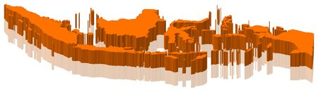 Map of Indonesia as an orange piece.