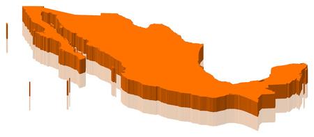 Map of Mexico as an orange piece.