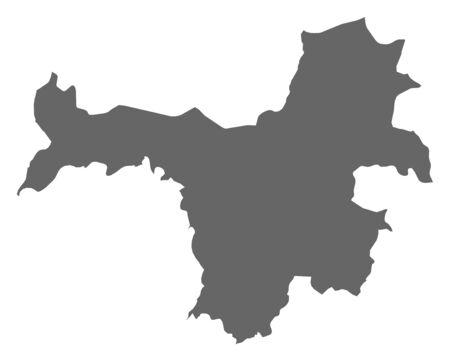 Map of Nz?r?kor?, a province of Guinea. Ilustração
