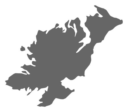 dun: Map of Donegal, a province of Ireland. Illustration