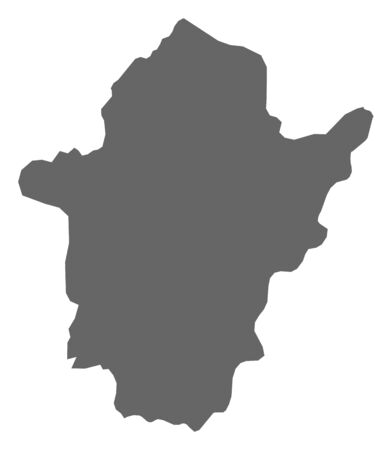Map of B?k?s, a province of Hungary.