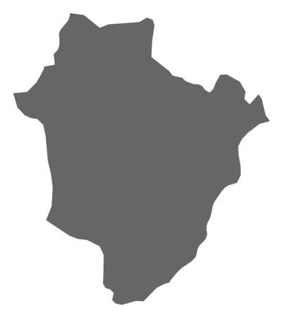 magyar: Map of Hajd?-Bihar, a province of Hungary.
