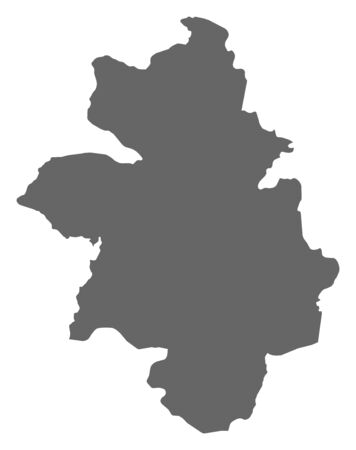Map of Kankan, a province of Guinea.