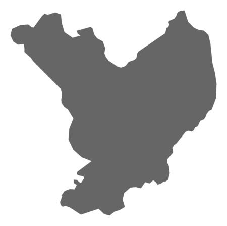 magyar: Map of J?sz-Nagykun-Szolnok, a province of Hungary. Illustration