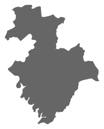 Map of Kindia, a province of Guinea.