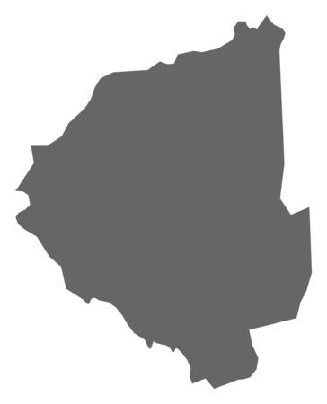 magyar: Map of Zala, a province of Hungary.