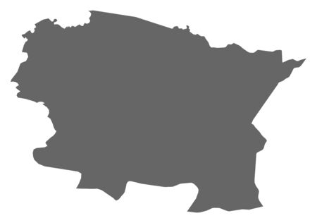 middle america: Map of Alta Verapaz, a province of Guatemala.