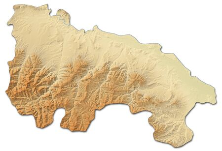 Relief map of La Rioja, a province of Spain, with shaded relief.