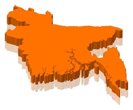 Map of Bangladesh as an orange piece.