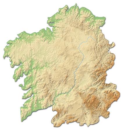 mappa sollievo della Galizia, una provincia della Spagna, con rilievi ombreggiati. Archivio Fotografico