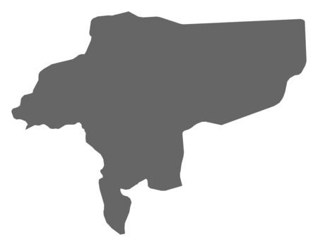 isfahan: Map of Isfahan, a province of Iran. Illustration