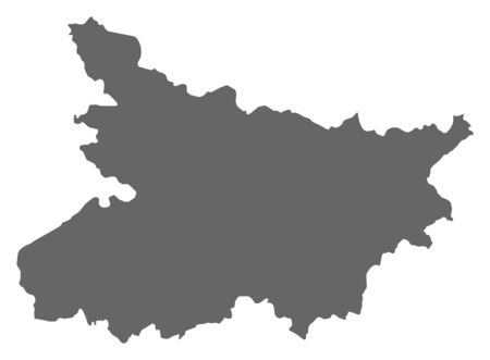bihar: Map of Bihar, a province of India. Illustration