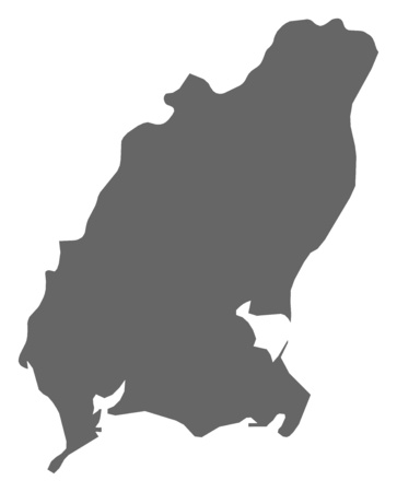 Map of Wexford, a province of Ireland.
