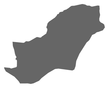 west asia: Map of Golestan, a province of Iran.
