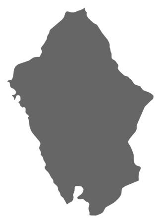ancash: Map of Ancash, a province of Peru.