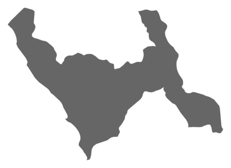 Map of La Libertad, a province of Peru. Illustration