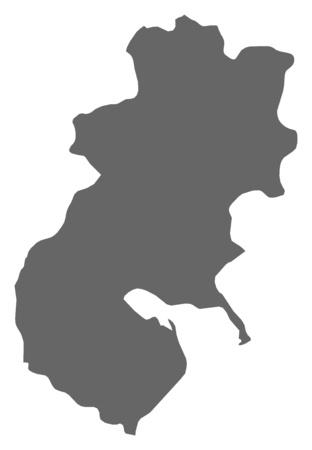 Map of Seti, a province of Nepal. Illustration