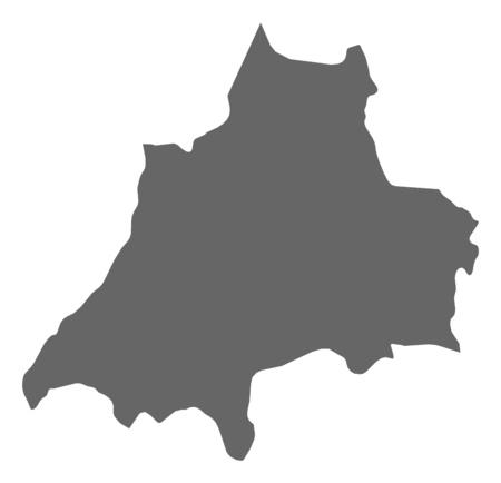 sverige: Map of J?nk?ping County, a province of Sweden. Illustration