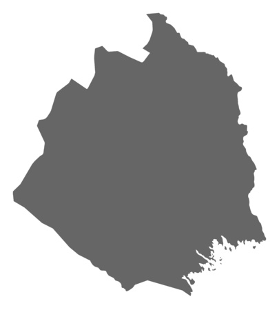 Map of Norrbotten County, a province of Sweden.